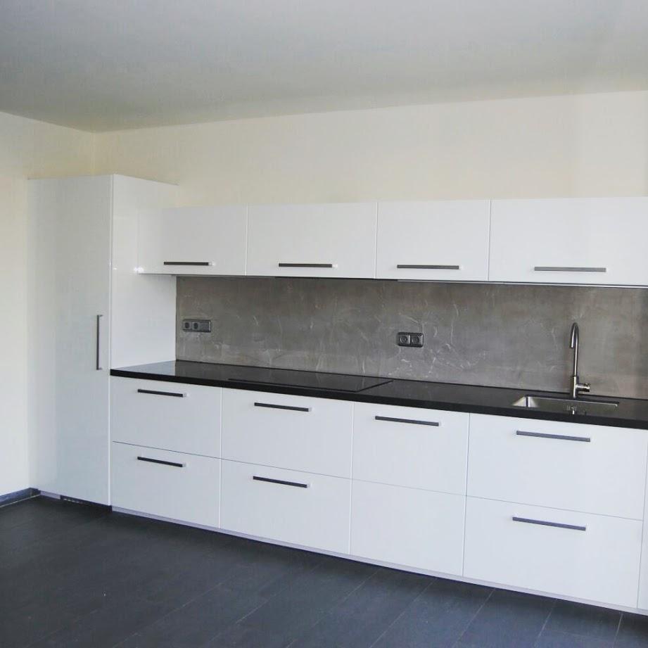 Vaak Onderhoudsvrije betonlook achterwand keuken &XU41